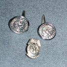 Police AAA Service Pin & Philadelphia Police Buttons