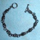 Silver Skulls Bracelet Band Biker Gothic Punk Style