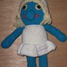 Smurfette Handmade Crochet Doll Figure
