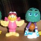 3 McDonalds Fry Guys & Birdie the Early Bird Figures