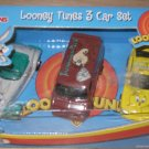 Loony Tunes 3 Car Set Racing Champions Ertl Hot Wheels