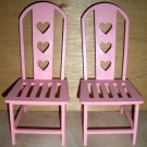 "Pink Doll Chair Furniture fits 18"" Dolls American Girl"