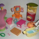 Littlest Pet Shop Furniture Slide Beds Tub