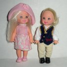 2 Barbie Kelly Dolls Horse Riding & Pink Outfits