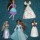 5 McDonald's Barbie Dolls Ballerina, Birthday