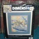 Dimensions Needlepoint Polar Bears Arctic Sunset Michael Adams