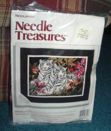 Needle Treasures Needlepoint Siberian Whites Tigers