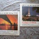 2 Funk & Wagnalls Great Music LP Bernstein, Gershwin