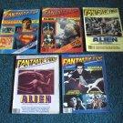 5 Fantastic Films Magazines from 1979 Dracula, Alien, Superman