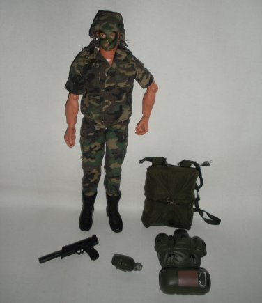 GI Joe Figure Army Paratrooper Accessories Hasbro with Parachute
