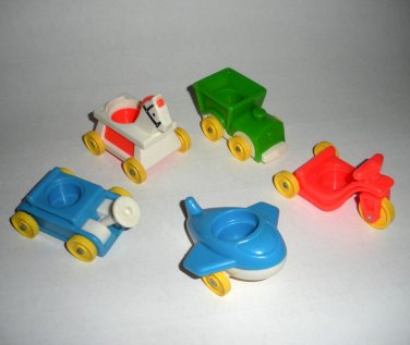 Little People Baby Nursery Wagon Airplane Tricycle Fisher Price Lot 3