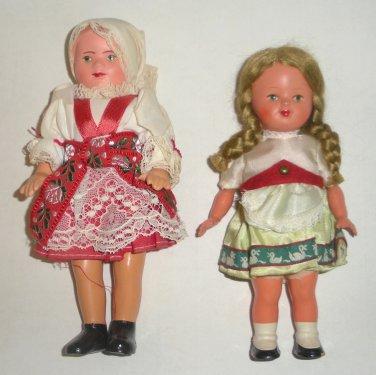 2 International World Dolls, German and Milan
