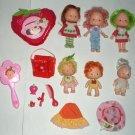 6 Vintage Strawberry Shortcake Dolls with Extras