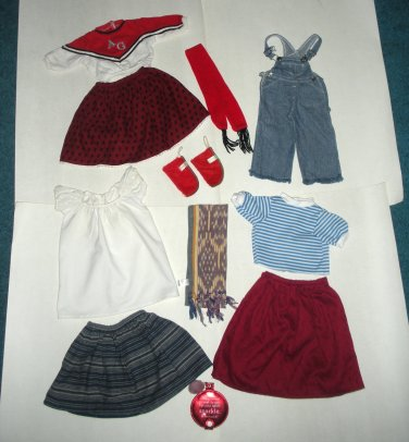 American Girl Doll Clothes by Pleasant Co Overalls, Skirts, Shirts