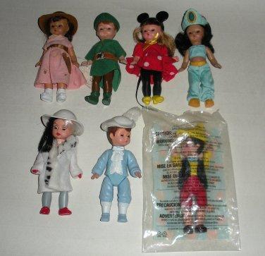 McDonalds Madam Alexander Dolls Disney Peter Pan Minnie Cruella Lot4