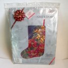 Needlepoint Kit Poinsettias and Bows Stocking Candamar Something Special