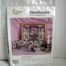 Needlepoint Victorian Floral Golden Bee Candamar