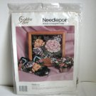 Needlepoint kit Floral Roses Golden Bee Candamar