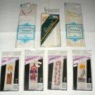 Cross Stitch Bookmarks lot Sailboat, Flowers, Clown Banar