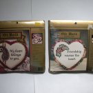 2 Cross Stitch Hearts Friendship Kits Old World Collections.