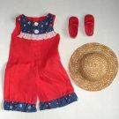 Crissy Sister Velvet Doll Red Jumpsuit, Shoes, Hat.