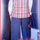 The Wooden Soldier Catalog Girls Size 16 Halter Top and Matching Denim Capri Pants