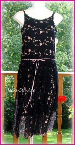 Girl 14 WOODEN SOLDIER Pink Embroidered Dress NWT $76