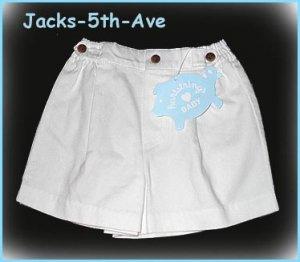 HARTSTRINGS 12 Months Girl Boy White Cotton Shorts