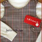 IMP Originals Size 3T and 4T Traditional Style Plaid Shortall Set