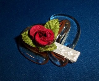 Rose Buds Flower Hair Accessory Barrette Clip OOAK