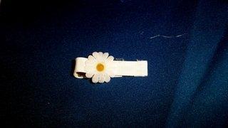 Small Daisy  Hair Accessory Barrette Clip OOAK