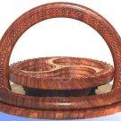 Elegant Wooden Handmade Basket - Unique Gift