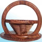 Handmade Carved Folding Flower Basket
