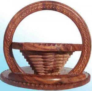 Handmade Carved Folding Flower Basket