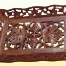 Handmade Wooden Fruit Serving Tray/ Dish- Cut Work