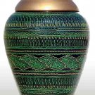 Green Handmade Wooden flower Vase - Lac Work