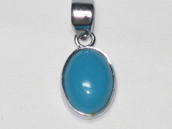 Firoza Silver Pendant