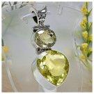 Dual Yellow magic in silver pendant