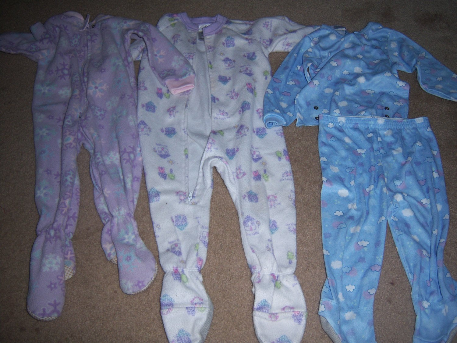 Girls 18 -24 month sleepers and pjs 4 pieces FREE SHIPPING