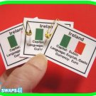 Ireland Fun Facts Scout SWAPS Girl Craft Kit-Swaps4Less