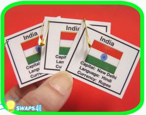 India Fun Facts Scout SWAPS Girl Craft  Kit-Swaps4Less