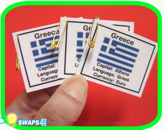 Greece Fun Facts Scout SWAPS Girl Craft  Kit-Swaps4Less