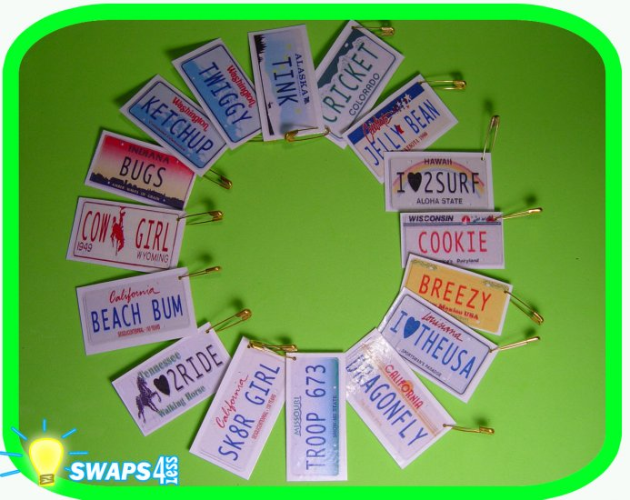 Custom Mini License Plates Scout Girl Kit- Swaps4Less