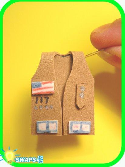 Senior Vest in 3-D! Scout SWAPS Craft Kit- Swaps4Less