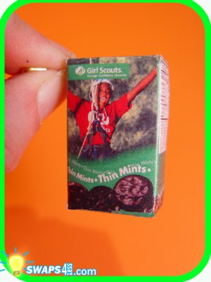 Thin Mint Cookie Box ! Scout SWAPS Craft Kit from Swaps4Less
