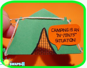 """Tents"" Situtation Scout SWAP Girl Craft Kit from Swaps4Less"