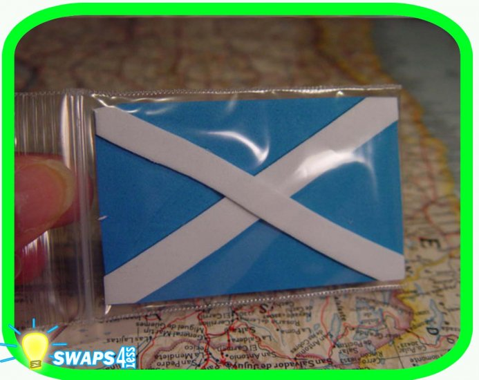 Flag of Scotland Scout SWAPS Girl Craft Kit- Swaps4Less