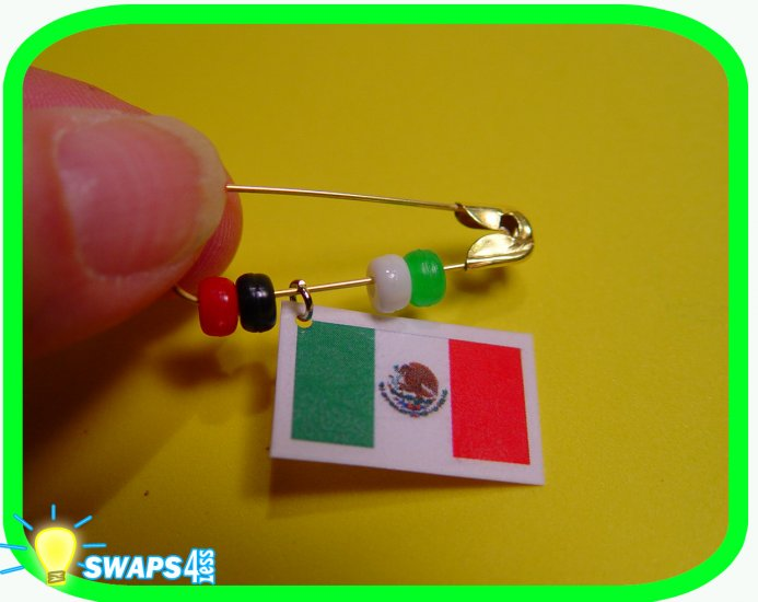 MEXICO! Flag Pin Scout SWAPS Girl Craft Kit from Swaps4Less
