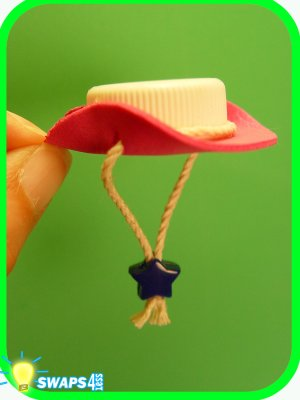Pink Cowgirl Hat Scout SWAPS Craft Kit - Swaps4Less