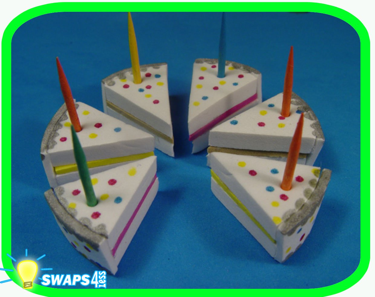 HAPPY BIRTHDAY Cake for Girl Scouts! SWAPS Girl Craft Kit - Swaps4Less